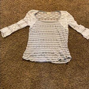 3/4 Sleeve Lace Shirt